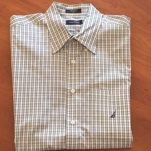 2 For $10 Nautica Casual PlaidChecked Short Sleeve